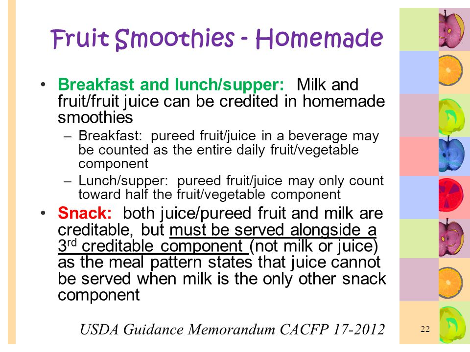Fruit Smoothies - Homemade