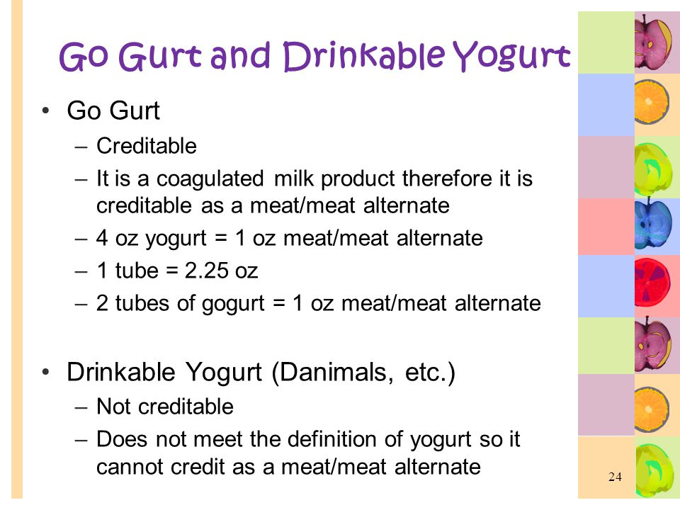 Go Gurt and Drinkable Yogurt