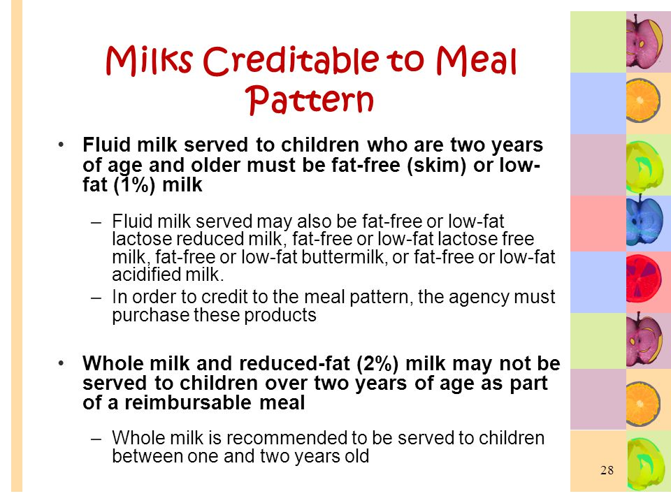 Milks Creditable to Meal Pattern