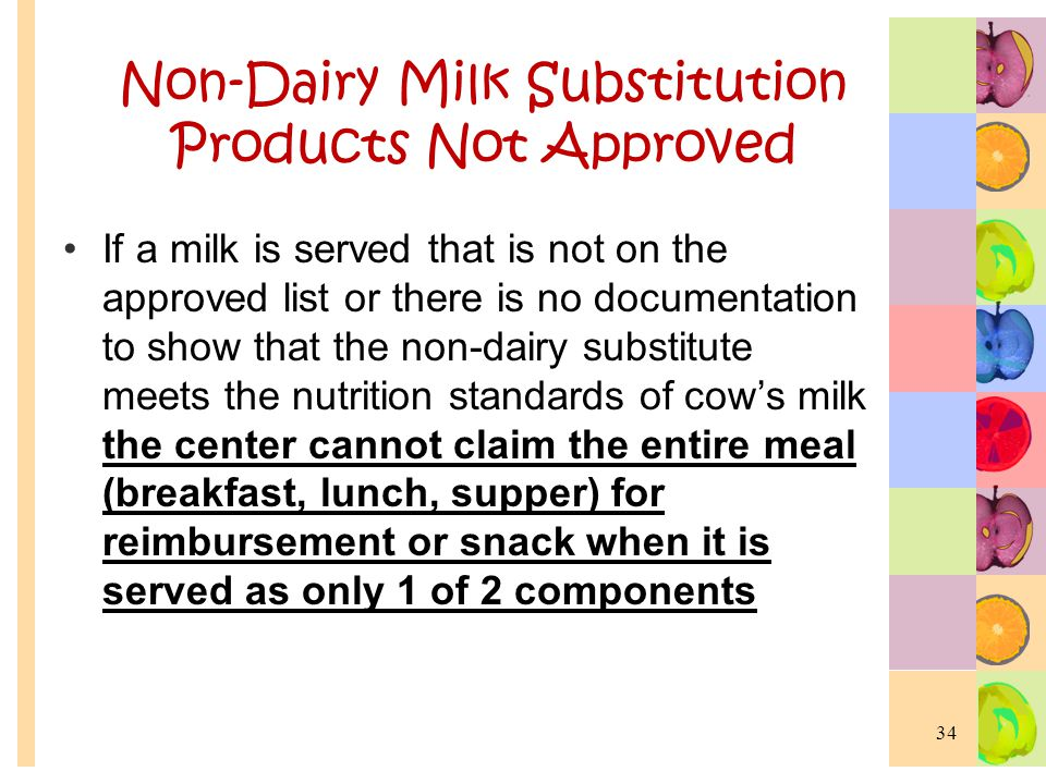 Non-Dairy Milk Substitution Products Not Approved