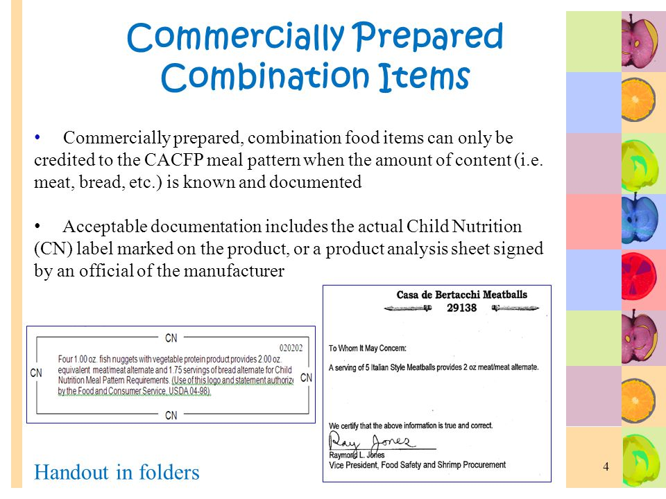 CACFP Nutrition Training - Meal Planning
