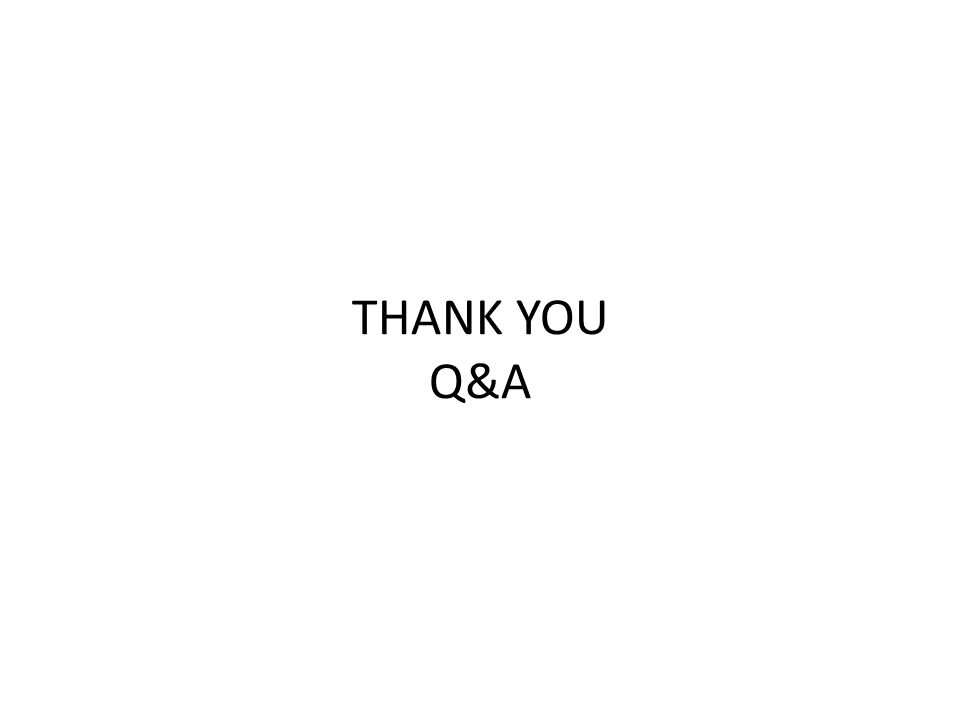 THANK YOU Q&A