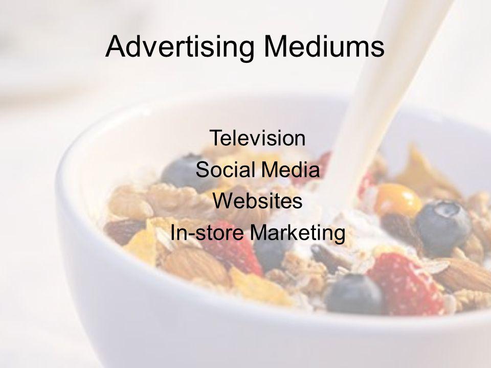 Advertising Mediums Television Social Media Websites