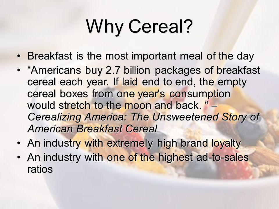 Why Cereal Breakfast is the most important meal of the day
