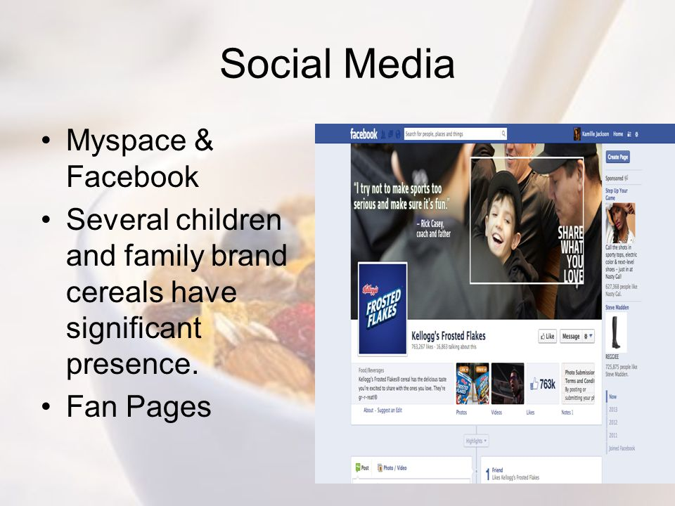 Social Media Myspace & Facebook