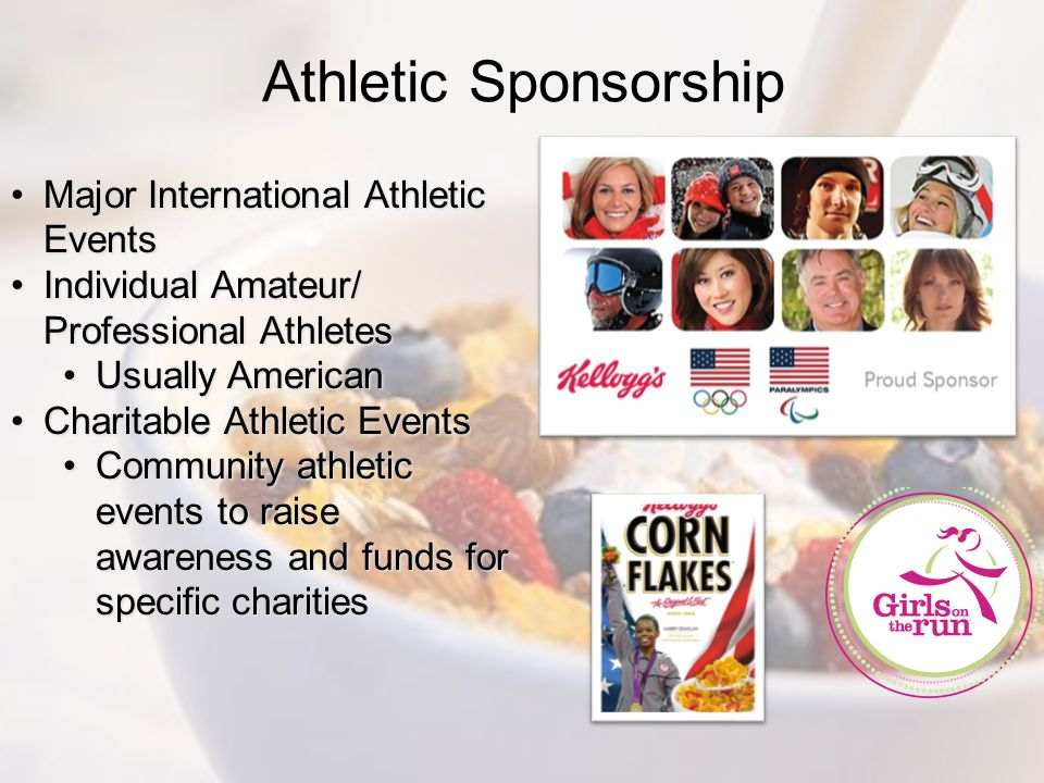 Athletic Sponsorship Major International Athletic Events