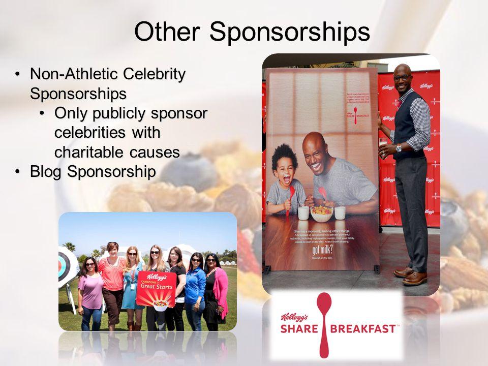 Other Sponsorships Non-Athletic Celebrity Sponsorships