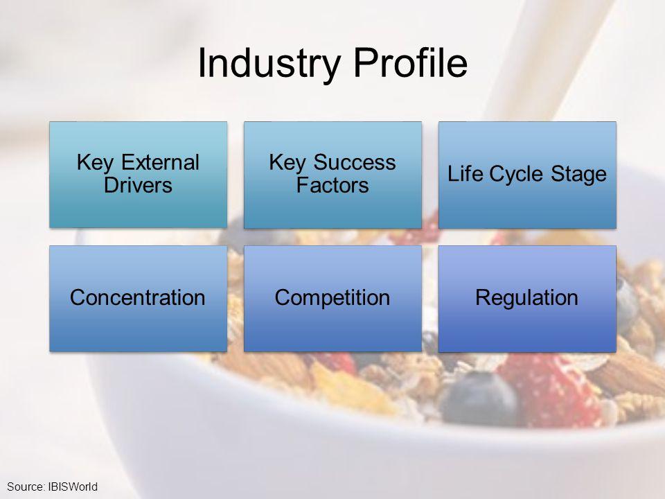 Industry Profile Key External Drivers Key Success Factors
