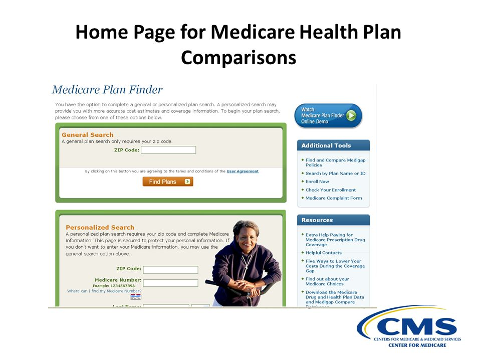 Home Page for Medicare Health Plan Comparisons