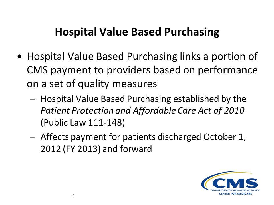 Hospital Value Based Purchasing