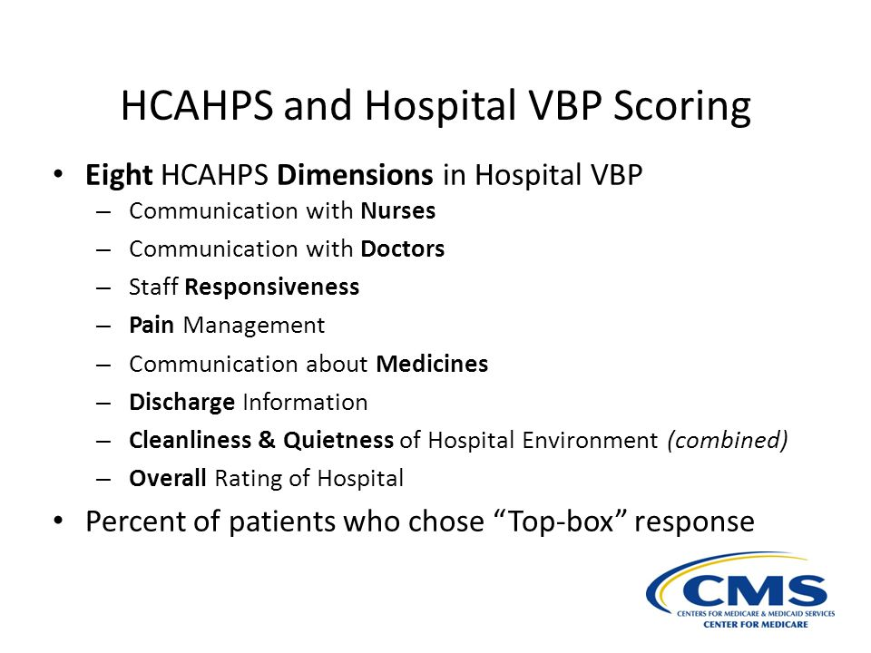 HCAHPS and Hospital VBP Scoring
