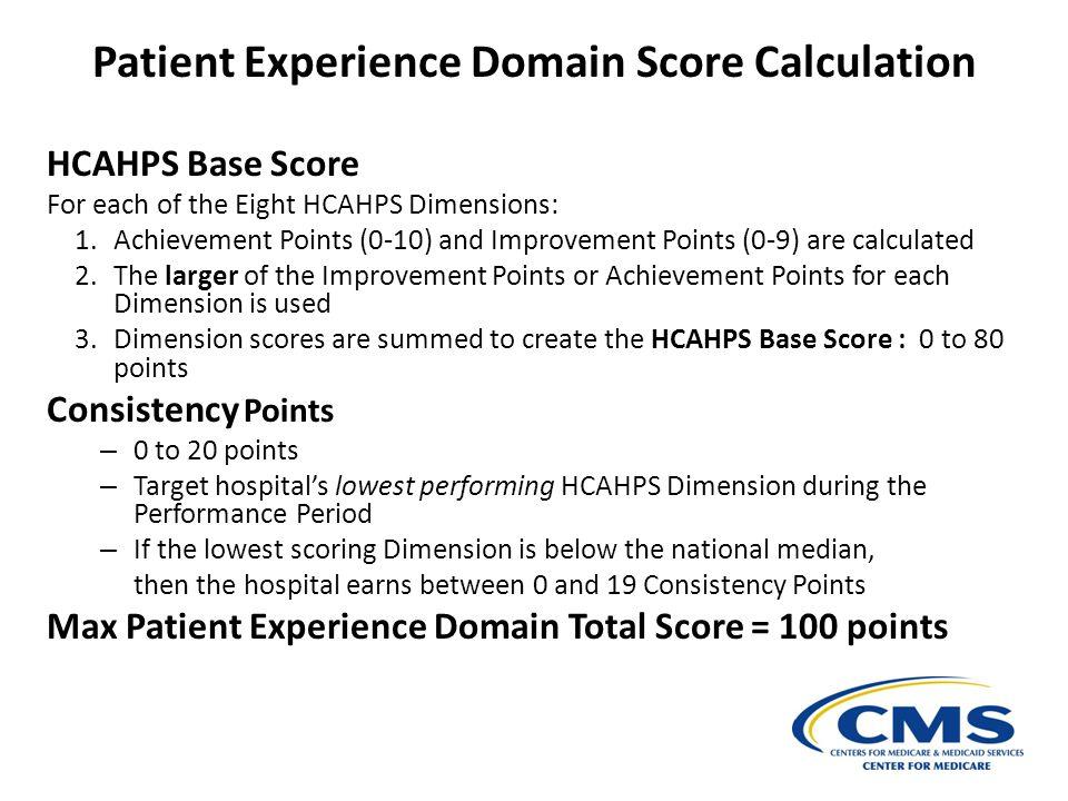 Patient Experience Domain Score Calculation