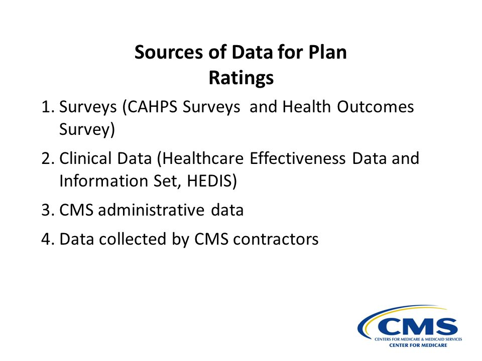 Sources of Data for Plan Ratings
