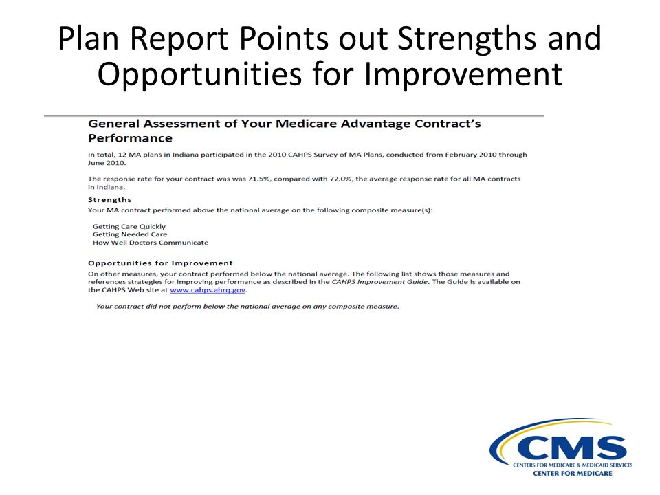 Plan Report Points out Strengths and Opportunities for Improvement