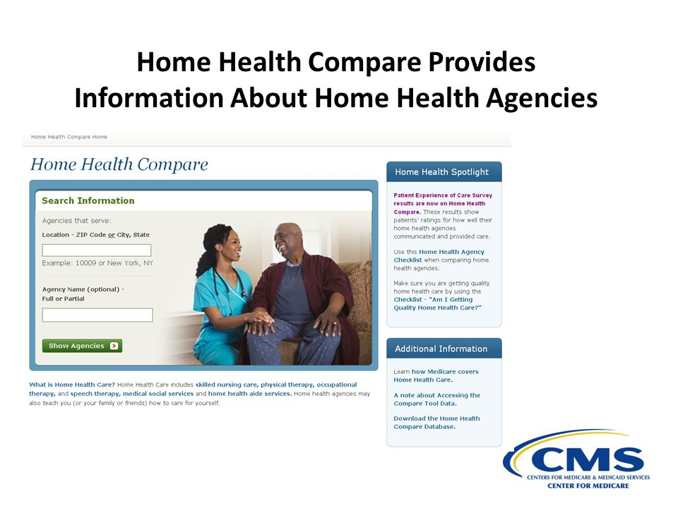 Home Health Compare Provides Information About Home Health Agencies