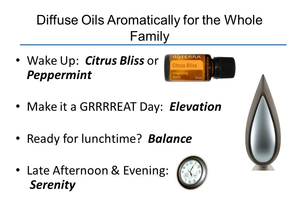 Diffuse Oils Aromatically for the Whole Family