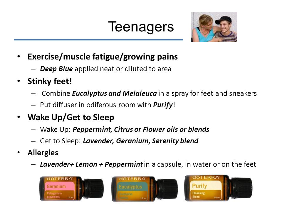 Teenagers Exercise/muscle fatigue/growing pains Stinky feet!