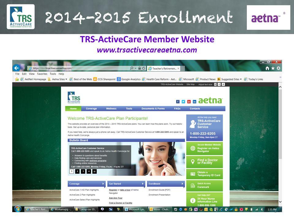 TRS-ActiveCare Member Website