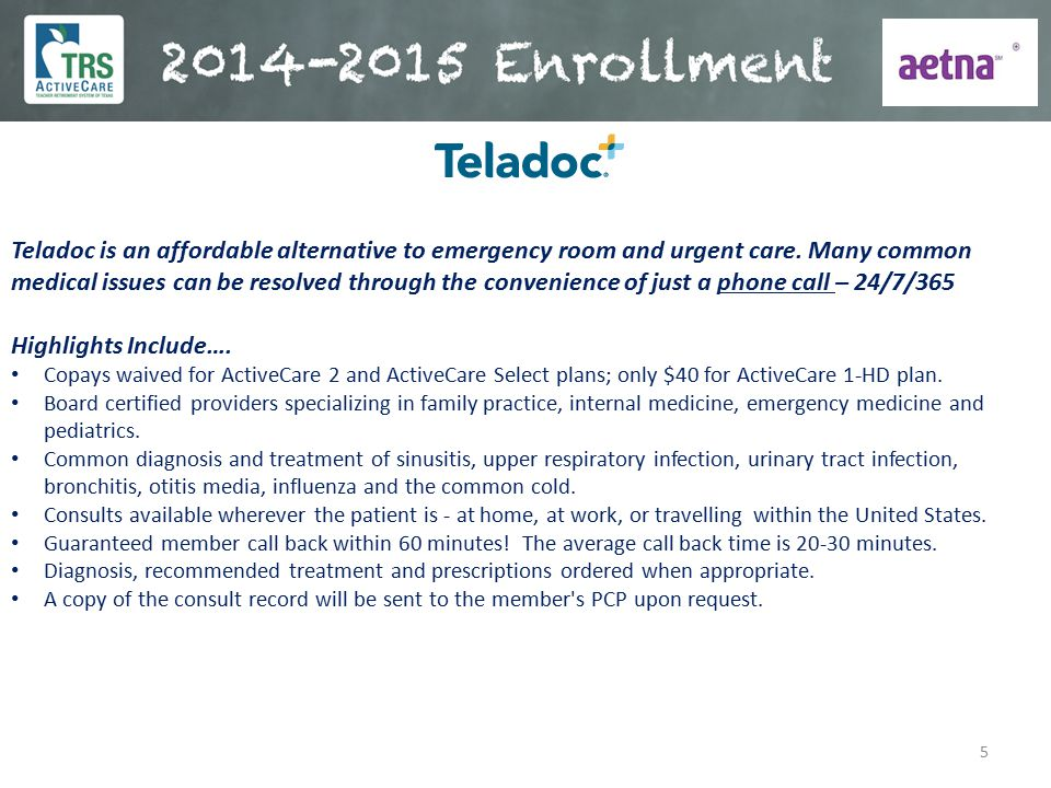 Teladoc is an affordable alternative to emergency room and urgent care
