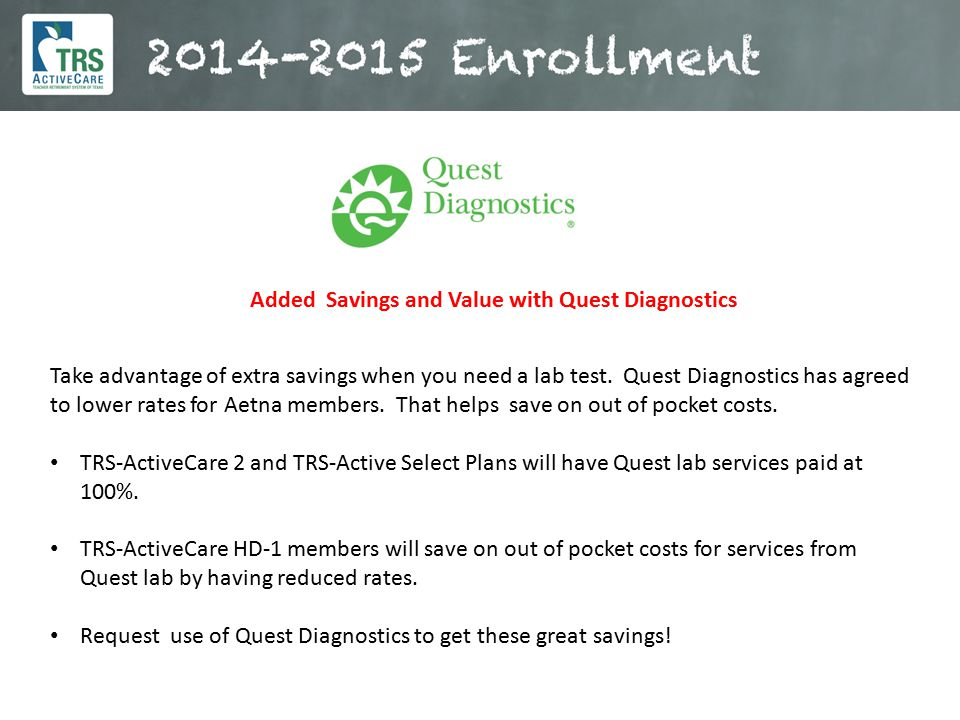Added Savings and Value with Quest Diagnostics
