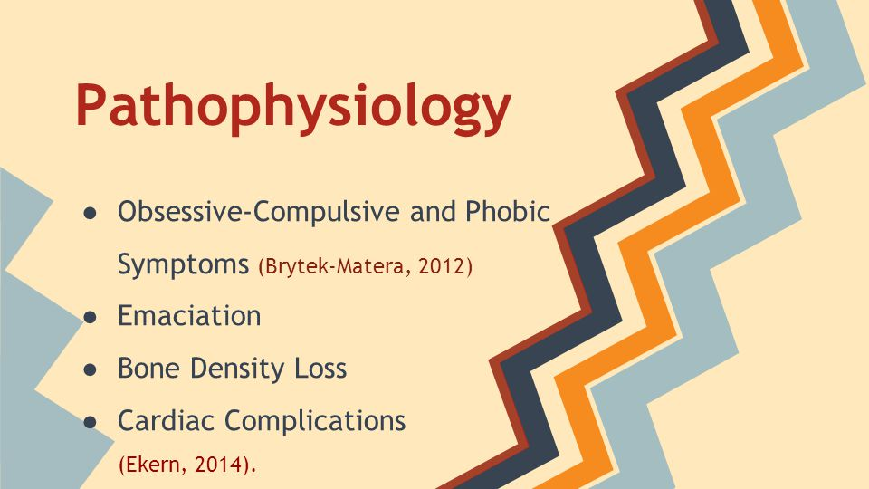Pathophysiology Obsessive-Compulsive and Phobic Symptoms (Brytek-Matera, 2012) Emaciation. Bone Density Loss.