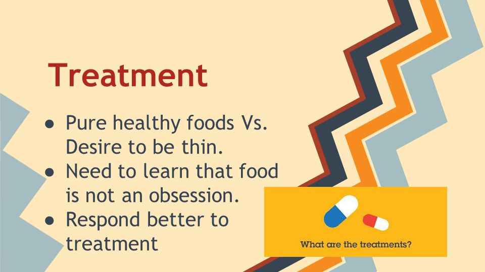 Treatment Pure healthy foods Vs. Desire to be thin.
