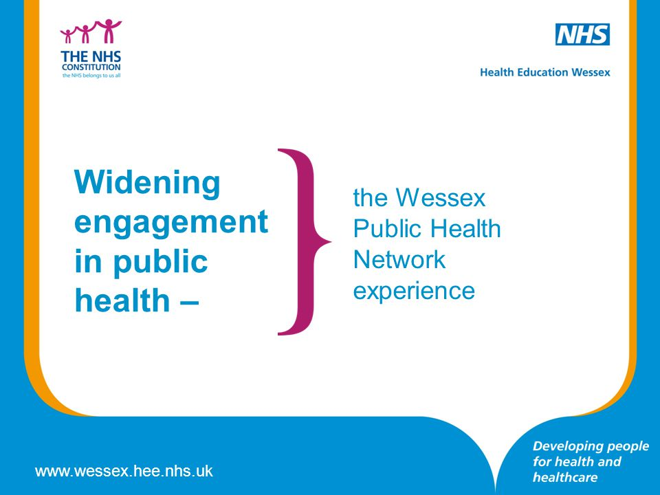 Widening engagement in public health –