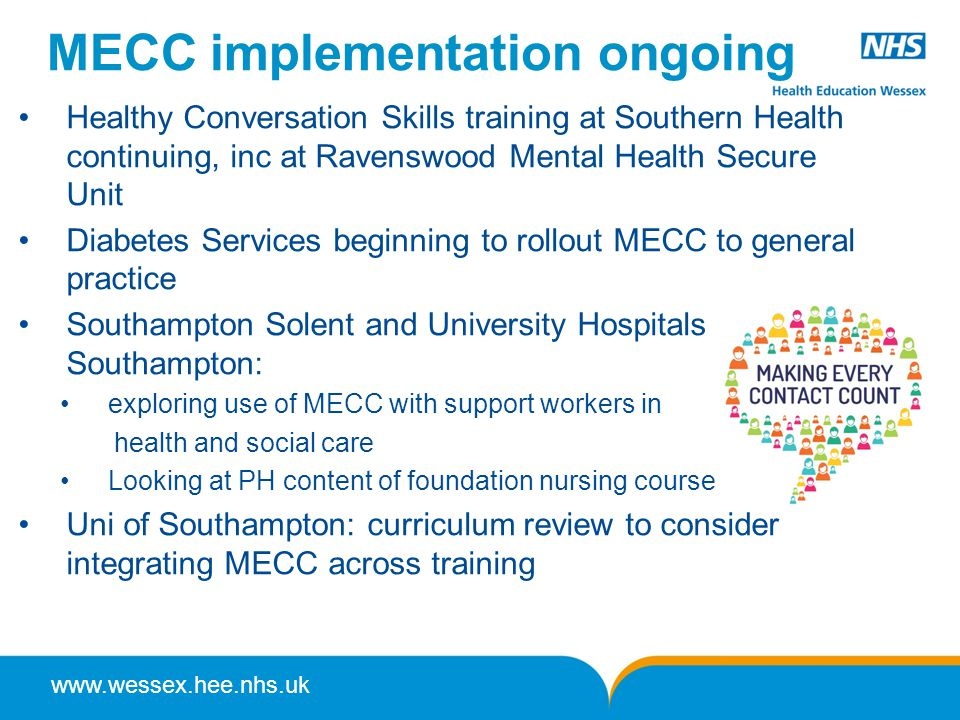 MECC implementation ongoing