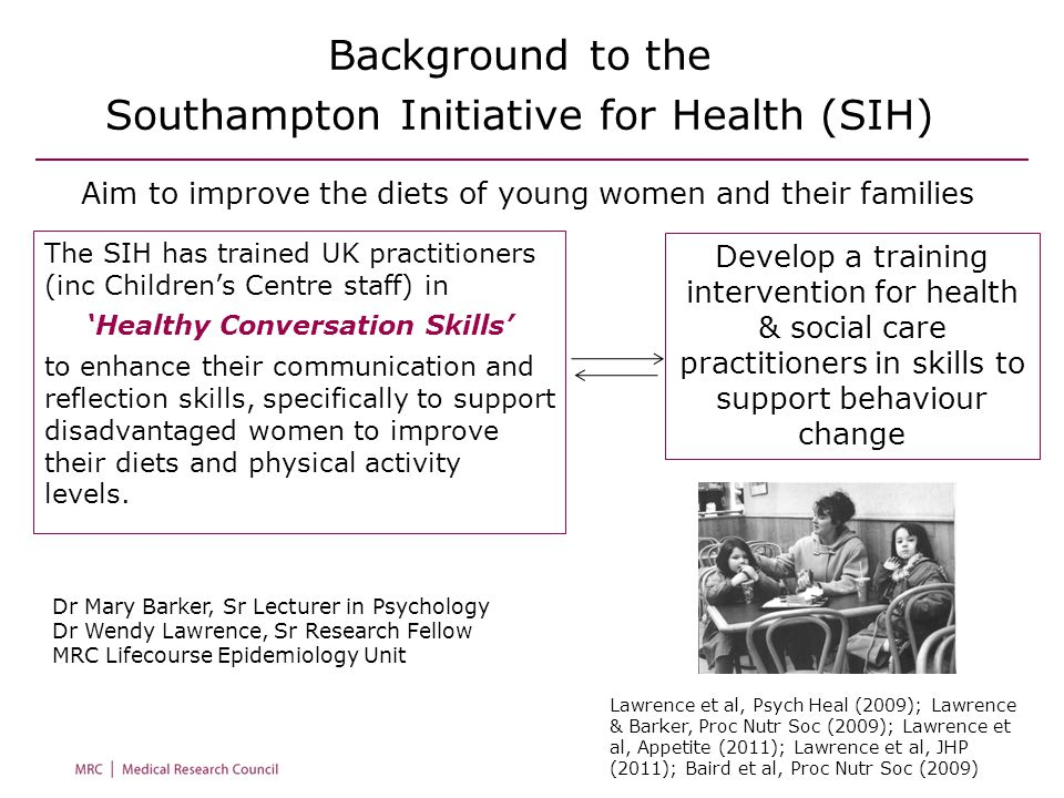 Background to the Southampton Initiative for Health (SIH)