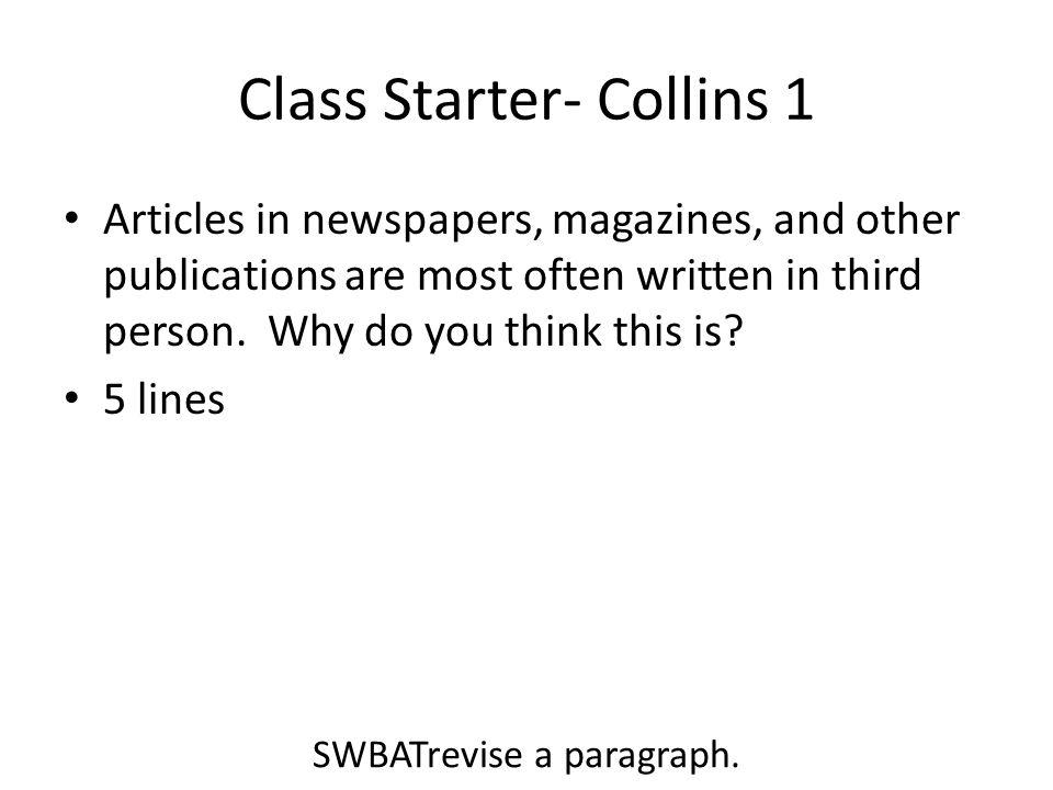 Class Starter- Collins 1