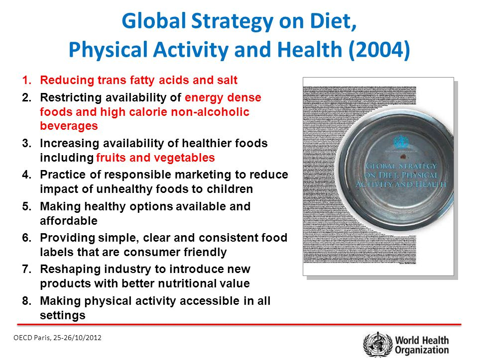 Global Strategy on Diet, Physical Activity and Health (2004)