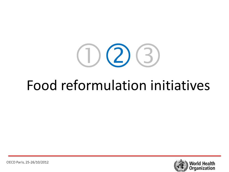  Food reformulation initiatives