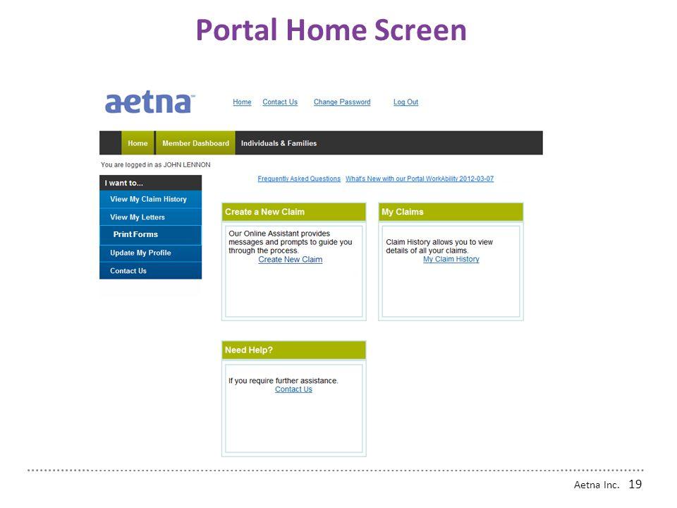 Portal Home Screen Print Forms