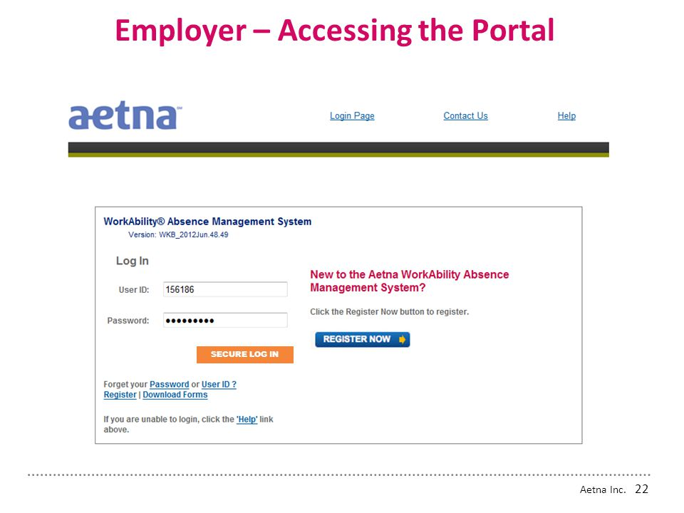 Employer – Accessing the Portal