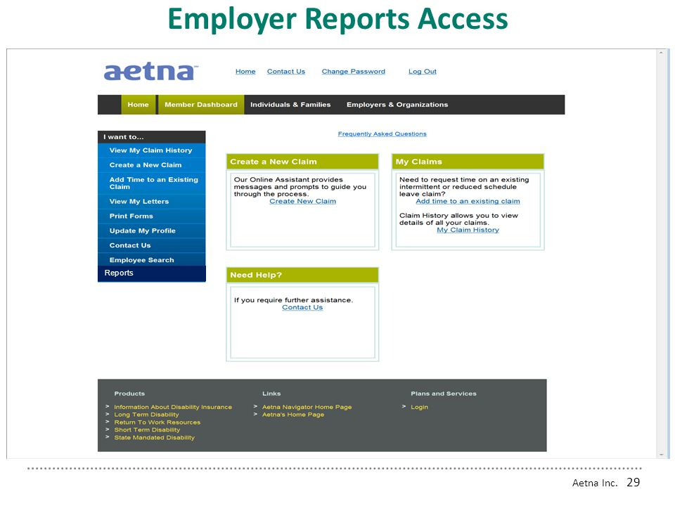 Employer Reports Access