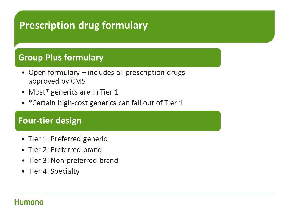 Prescription drug formulary