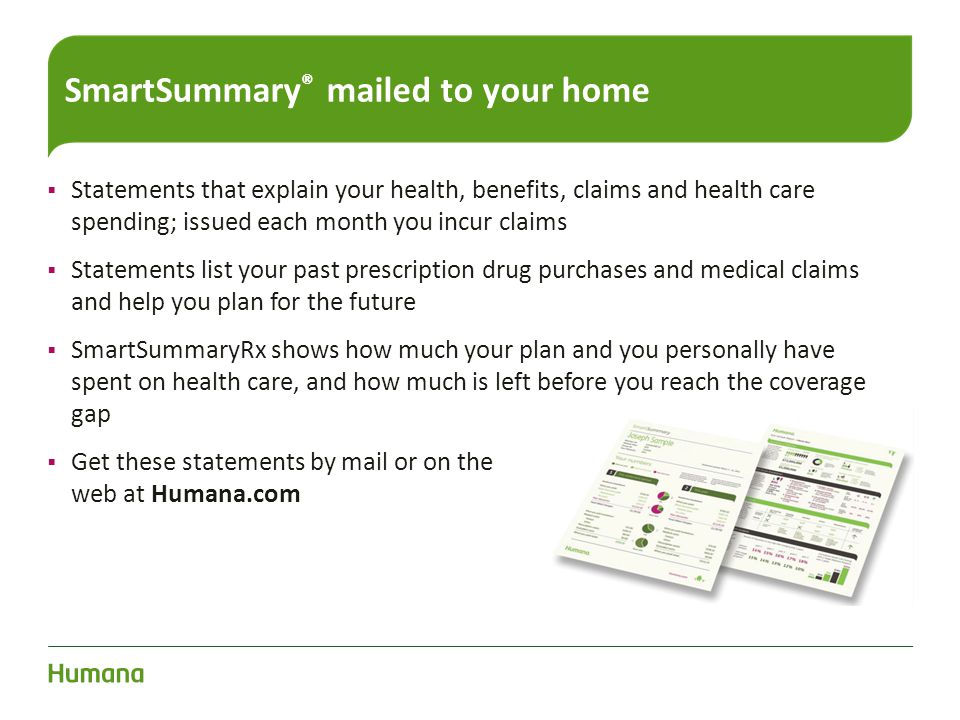 SmartSummary® mailed to your home