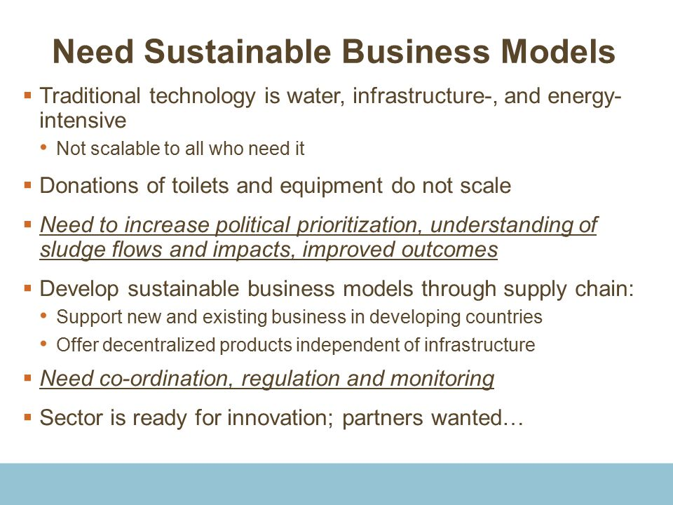Need Sustainable Business Models