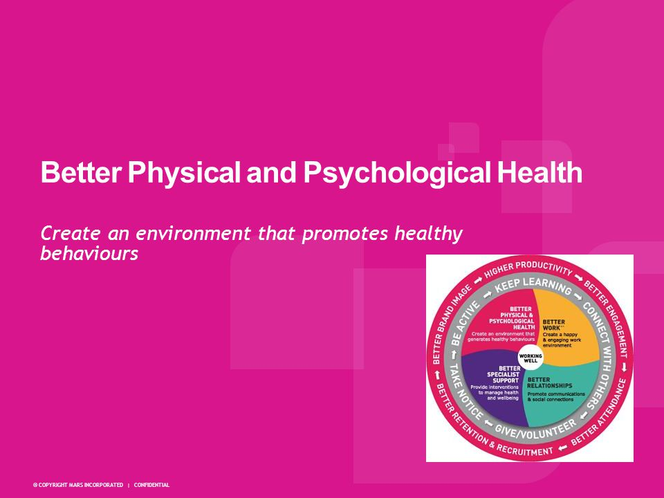 Better Physical and Psychological Health
