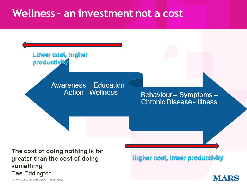 Wellness – an investment not a cost