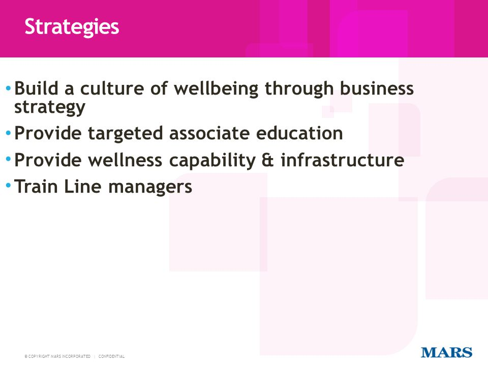 Strategies Build a culture of wellbeing through business strategy