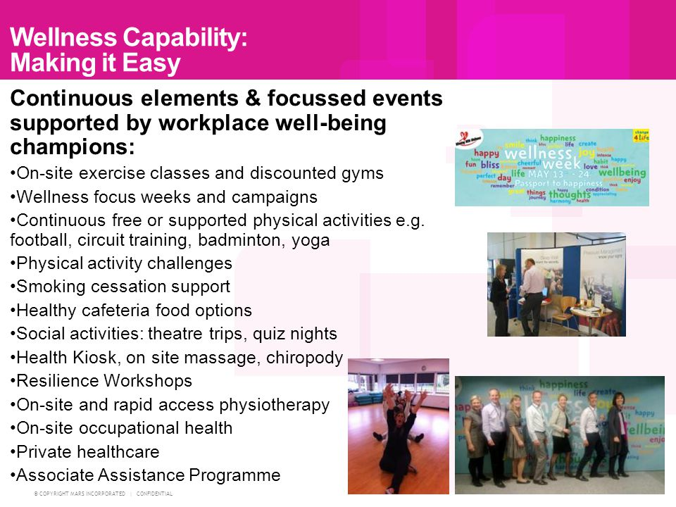 Wellness Capability: Making it Easy
