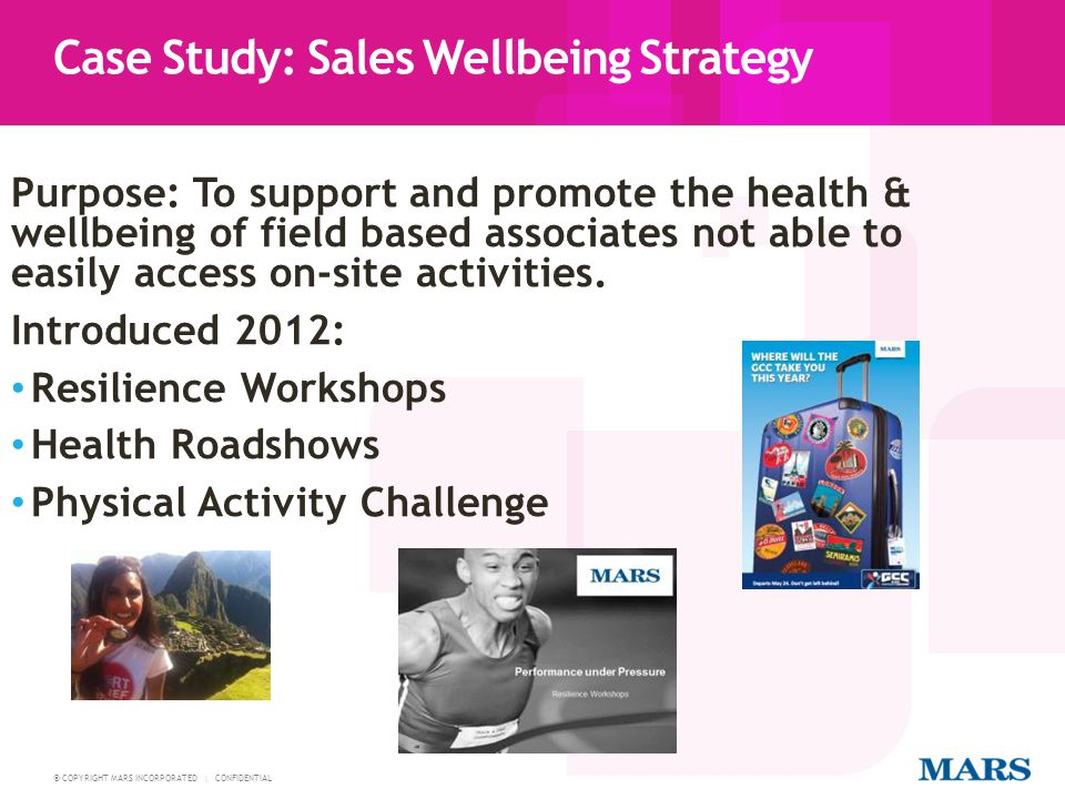 Case Study: Sales Wellbeing Strategy