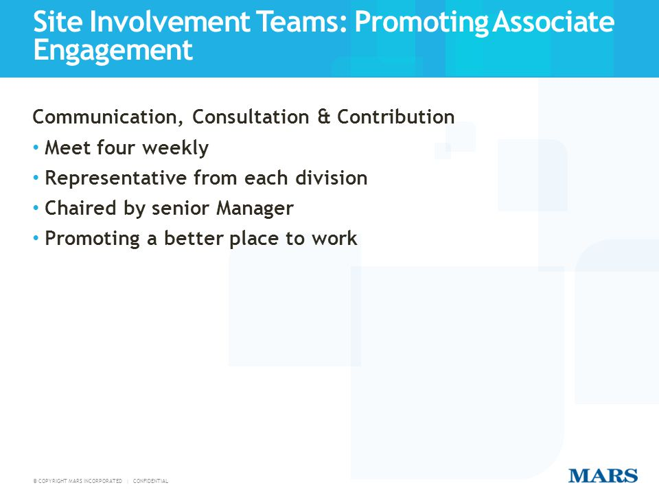 Site Involvement Teams: Promoting Associate Engagement