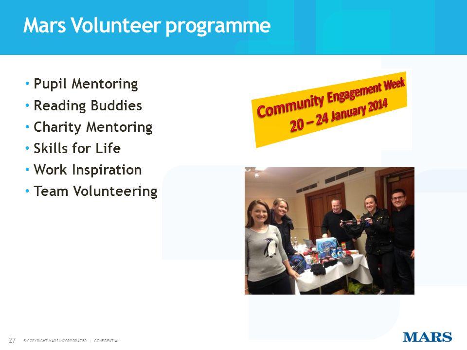 Mars Volunteer programme