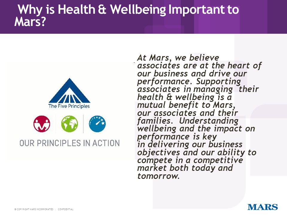 Why is Health & Wellbeing Important to Mars