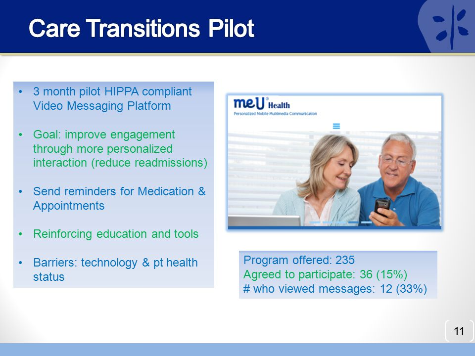 Care Transitions Pilot