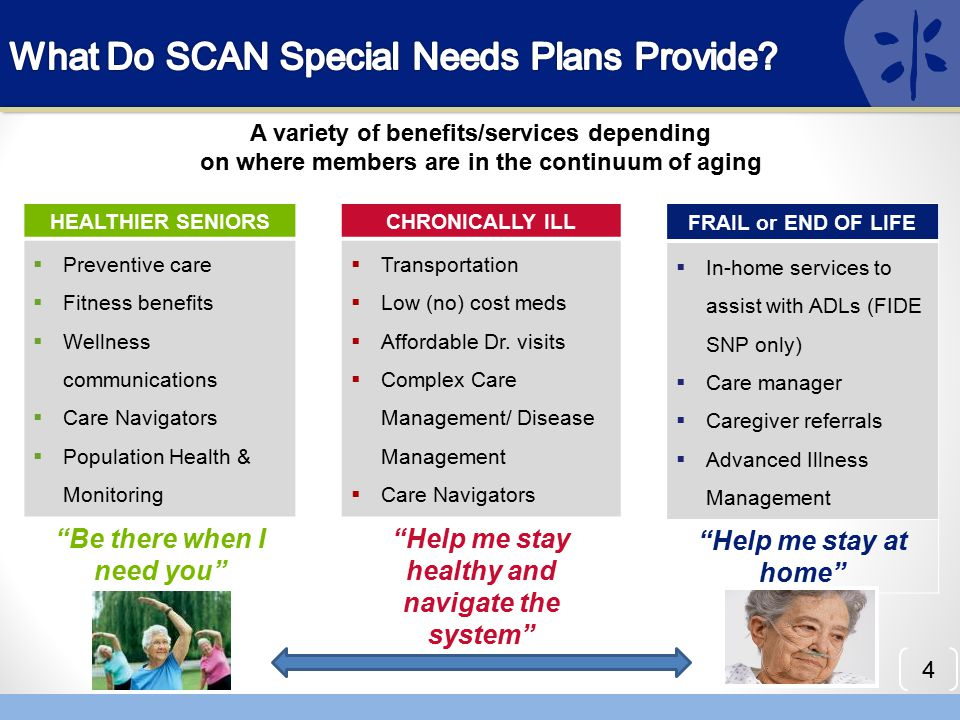 What Do SCAN Special Needs Plans Provide