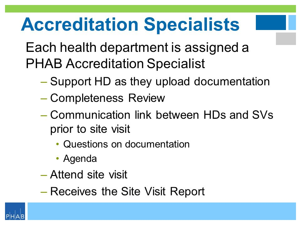 Accreditation Specialists