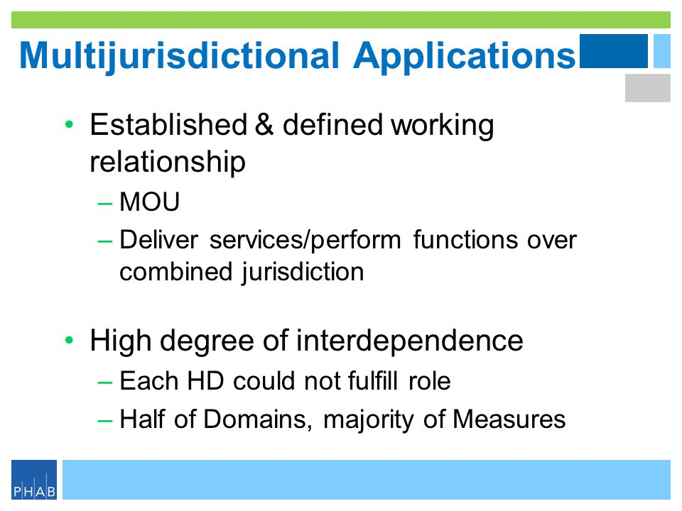 Multijurisdictional Applications